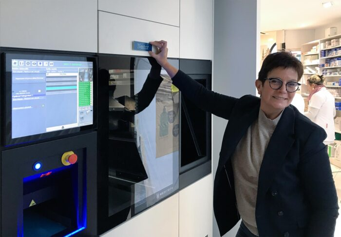 Pharmacie Boschetti en Meditech aflever robot