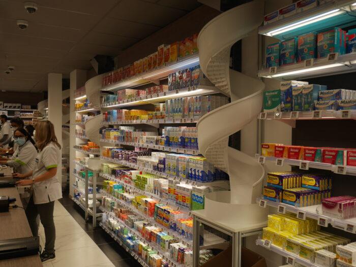 sortie toboggan meditech pour notre robot de pharmacie mt.xl